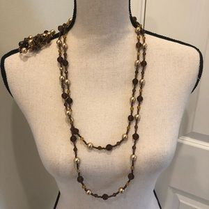 Brown And Gold Necklace and Bracelet